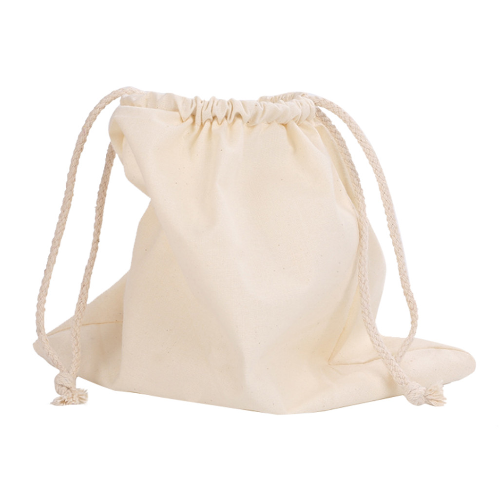 Drawstring Cotton Bag Supermarket Bread Fruit And Vegetable Shopping Bag Home Environmental Protection Storage Bag 7.8