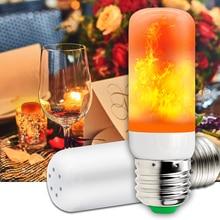 Купить с кэшбэком E27 LED Flame Lamps Fire Effect Bulb LED Lamp Candle 220V Flicker Bulb 2835SMD Burning Flame Light 42leds Indoor Decoration 110V
