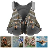 High Quality Life Vest Backpack 3in1 Adult Fishing Vest Polyester Jacket Outdoor Swimming For Pesca Survival Safety Life Jacket