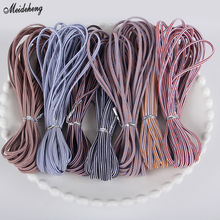 High Quality 3mm 5m Elastic Colorful Round Ribbon Band For Hairline Line DIY Sewing Accessory