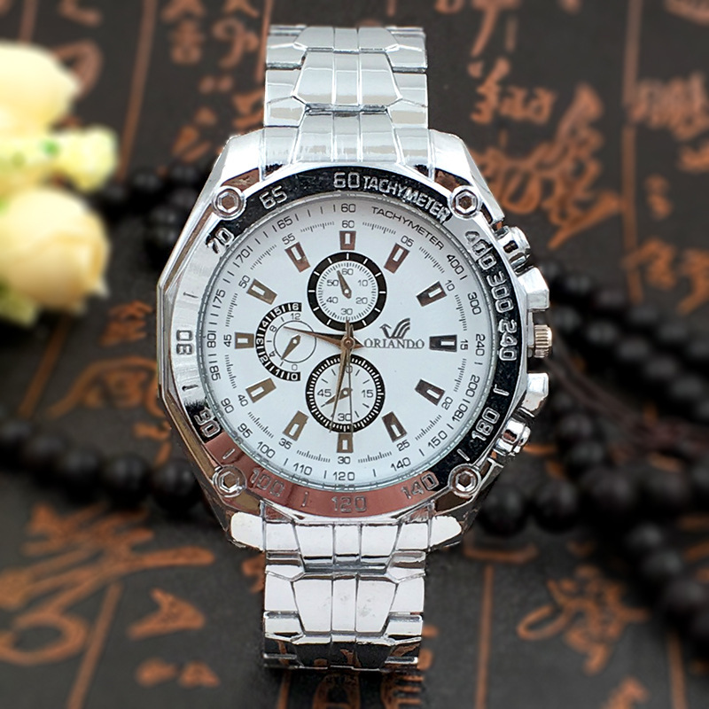 Hot Men's Steel Band Watch Orlando Classical Watch Men's Quartz Watch Male Fashion New Watches Wrist Watch