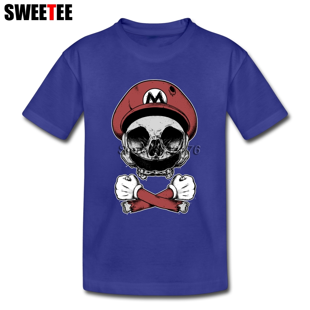 Super Mario Death Squad Anime Girl T Shirt Pure Cotton Short Sleeve O Neck Costume Teens Unique T-shirt For Boys Girls