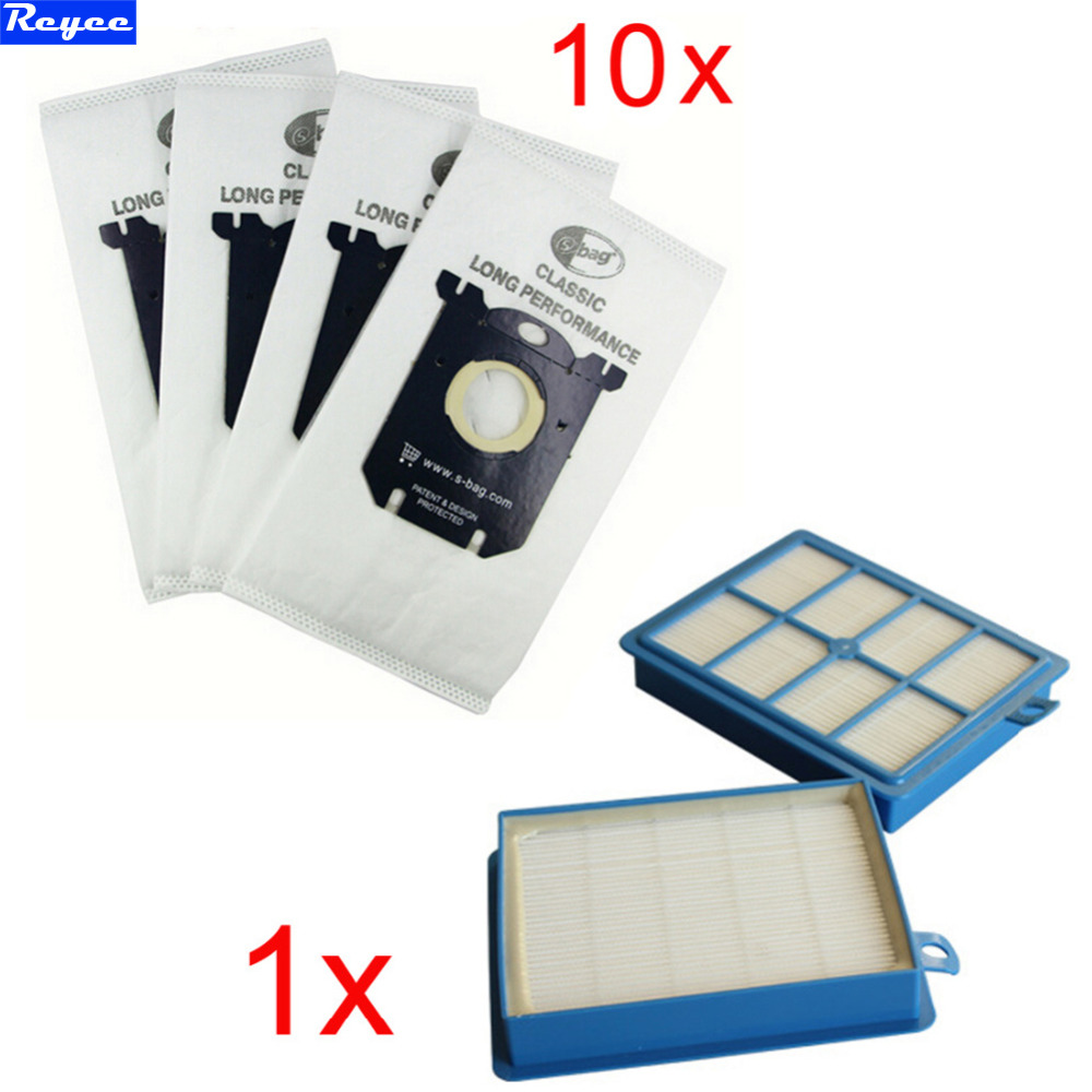1pcs Replacement hepa filter h12 & 10 pcs Dust Bags for Electrolux Vacuum Cleaner filter electrolux hepa and S-BAG Free Shipping 10x vacuum cleaner bags dust bag filter electrolux s bag replacement for philips fc9170 fc9062 fc9161 performer etc