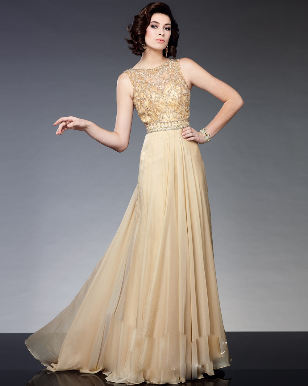 Mother Gown For Wedding: Elegant Long Mother Of The Bride Dresses 2016 Champagne