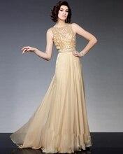 Elegante Lange Mutter der Braut Kleider 2016 Champagne Chiffon Perlen Formal Abendkleid Brides Mutter Kleider für Hochzeiten