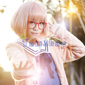 Image 4 - Anime Kyokai no Kanata (Beyond the Boundary) Kuriyama Mirai Cosplay Costume Japanese Girls School Uniform and Sweater