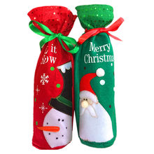 Christmas Wine Bottle Cover Bags Home Holiday Party Decoration Santa Claus  Snowman Christmas Wine Bottle Bag 85f686ef500a0