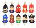 Специальные Творческие мультфильм pendrive диска Америка Капитан Супермен Человек-Паук Бэтмен pen drive 8 ГБ/16 ГБ/32 ГБ/64 ГБ USB Flash Drive