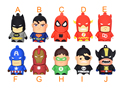 Especial cartoon Creativo pendrive disk Capitão América Superman Spiderman Batman pen drive 8 GB/16 GB/32 GB/64 GB USB Flash Drive