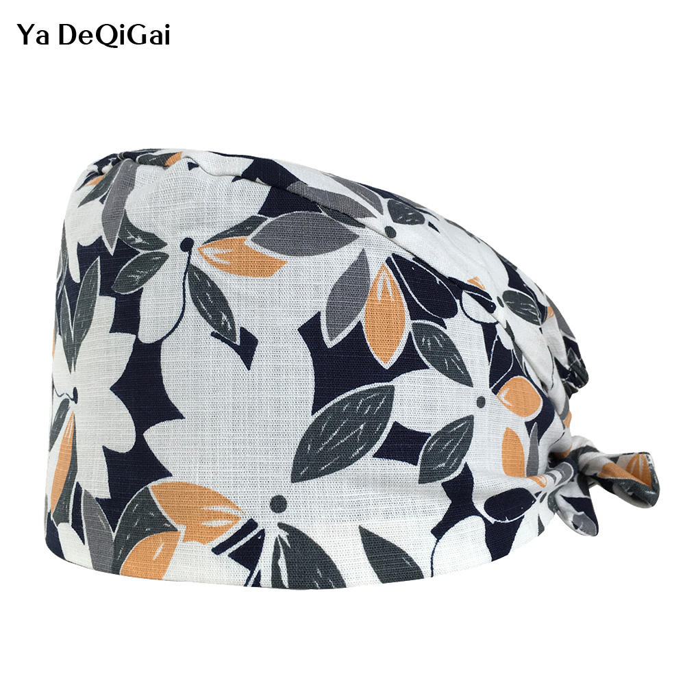 High Quality Unisex Doctor Nurse Scrub Cap Medical Surgical Hat Dental Clinic Surgery Work Hat Adjustable Operating Hats Masks
