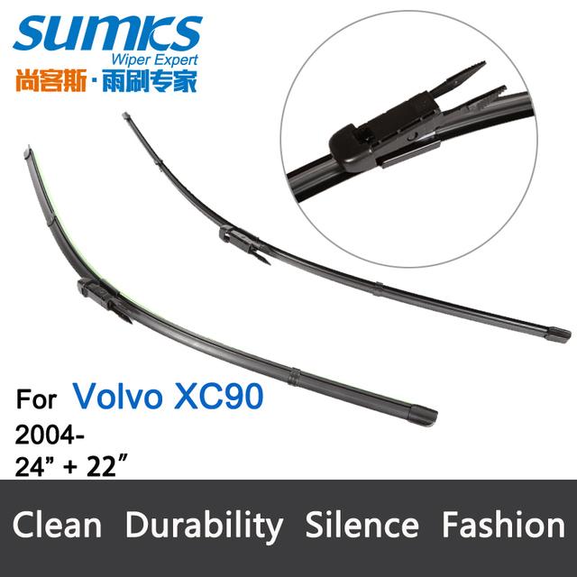 "Lâmina de limpador para Volvo XC90 (A Partir De 2004) 24 ""+ 22"" fit pinch tab tipo limpador braços só HY-017"