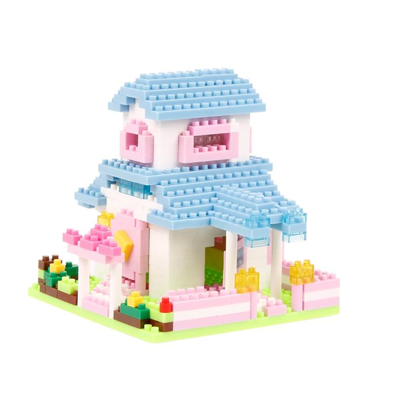 Djevojke Blok Pink Pink Plava Villa Princess Prijevoz Ljubičasta - Izgradnja igračke - Foto 2
