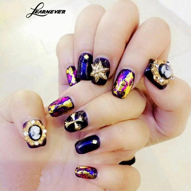 Learnever 48pcsset Manicure Accessories Nail Art Tips Nail Stickers