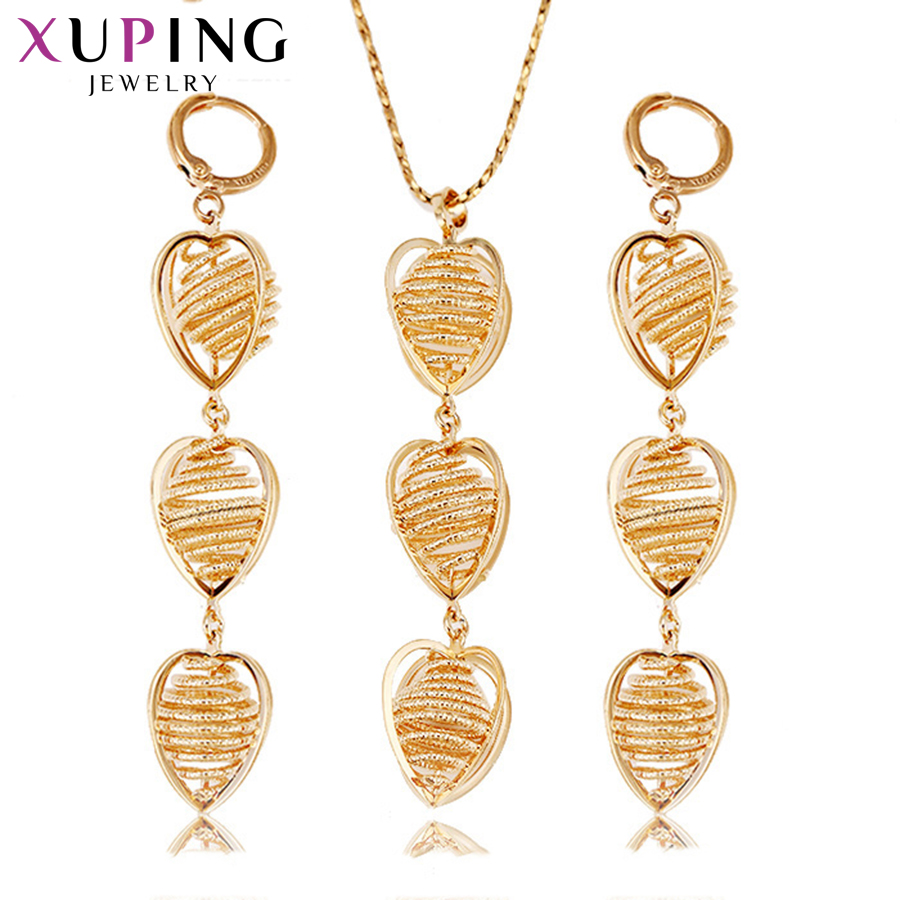 Ingenious Xuping Fashion Simple Long Heart Shape Jewelry Sets Environmental Copper For Women Thanksgiving Day Gift S72,2-62835 To Prevent And Cure Diseases Jewelry Sets & More Jewelry Sets