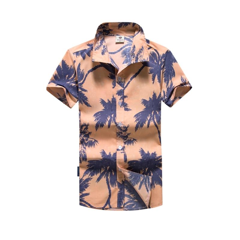 533acebd5fc 2018 Summer Male Shirt Casual Hot Selling Short Sleeve Fashion Cardigan Men s  Hawaiian shirts New Style Printed Beach Men Shirt