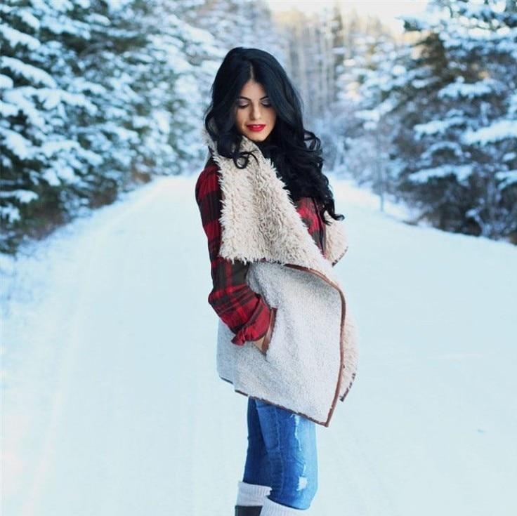 Abrigo mujer chaleco grande de piel de felpa cuello bordado chaleco mujer manteau femme hiver chamarras de mujer