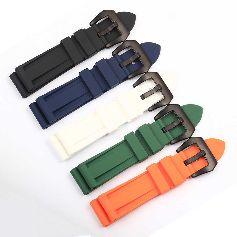 Men's 22mm 24mm 26mm Rubber Watch Band Waterproof Watch Silicone Watch Strap Black,Blue,Green,Orange,White Watchband