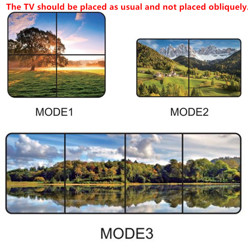 2x2 4K HDMI DVI Video Wall Controller Adapter LCD TV Wall Processor 4-HDMI+Audio Output Connector For HDTV Display Free Shipping (1)