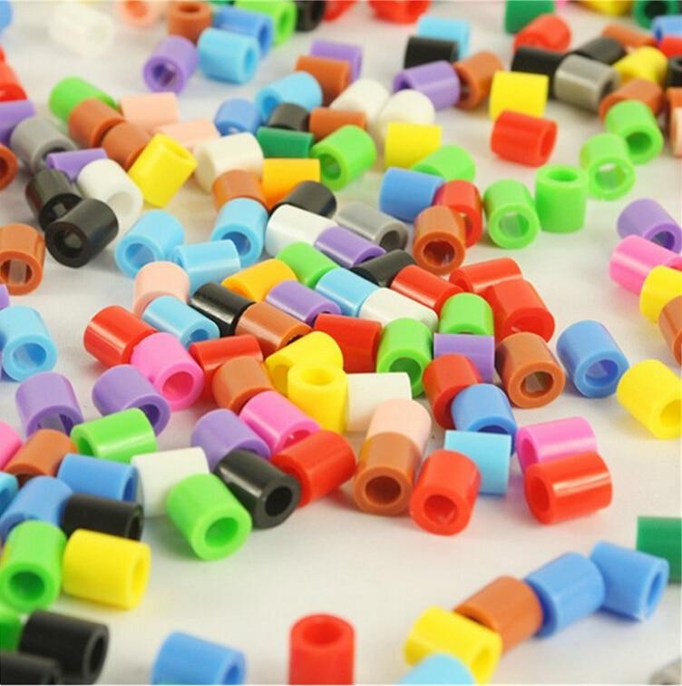 Wholesale 10000pcs/lot Mixed Color 5MM HIGHGRADE Hama Beads Diy Toy Foodgrade Hama Fuse Beads Puzzles PUPUKOU