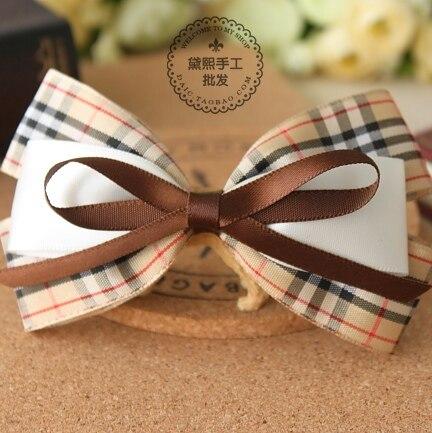 princess sweet lolita Hair accessory classic bow hairpin headband grid cloth hair maker hair accessory a036