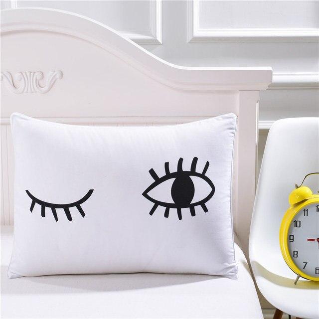 Biancheria da letto di Scarico Nero Del Ciglio Eye Federa Cuscino Decorativo Cop
