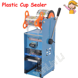 220V Plastic Cup Sealing Machine Milk Tea Packing Sealer for Standard Cup Dia:7.0cm-9.5cm with Counting Function ET-D9