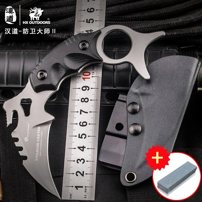 HX OUTDOORS CS go karambit Defence master D2 Karambit cuchillo, - Camping y senderismo