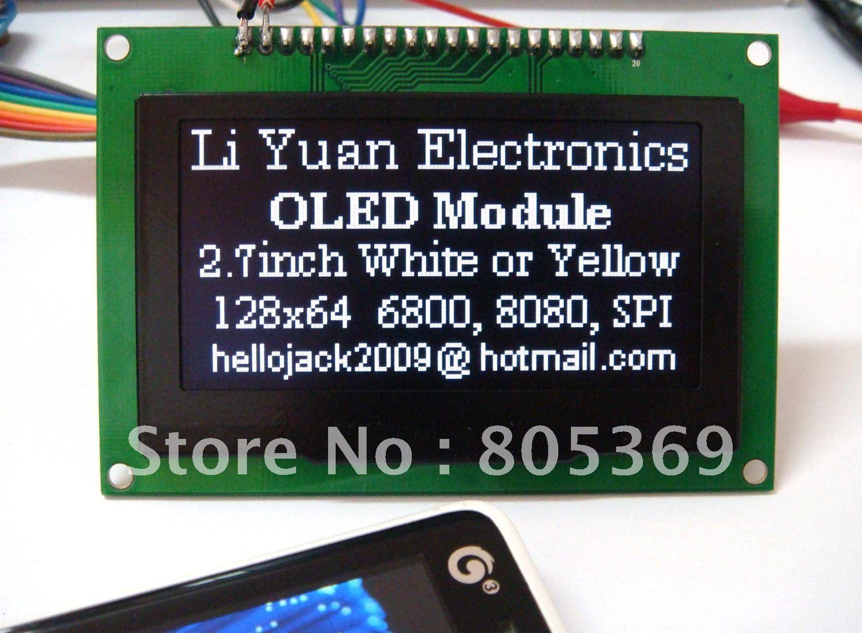 2.7 inch white OLED module  OLED display