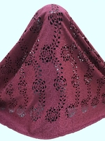New Arrival African Dry Lace Fabric High Quality Wine Red African Swiss Laser Cutting Lace For