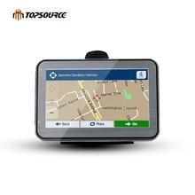 "Topsource 4.3 ""5"" 7 ""HD Автомобильный GPS навигации грузовик gps-навигация преднагрузки GPS карта Windows CE6.0 800 мГц 4 ГБ msb 2531 ARM Cortex A7"