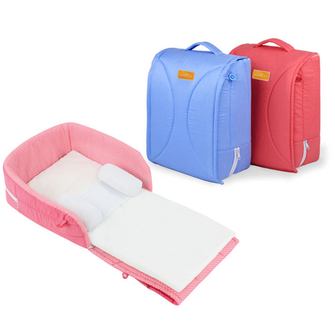 Baby cribs good quality - High Quality Portable Foldable Newborn Crib Combination Baby Travel Bed Removable Handbag Design Mattress With Pillows 2pcs Set