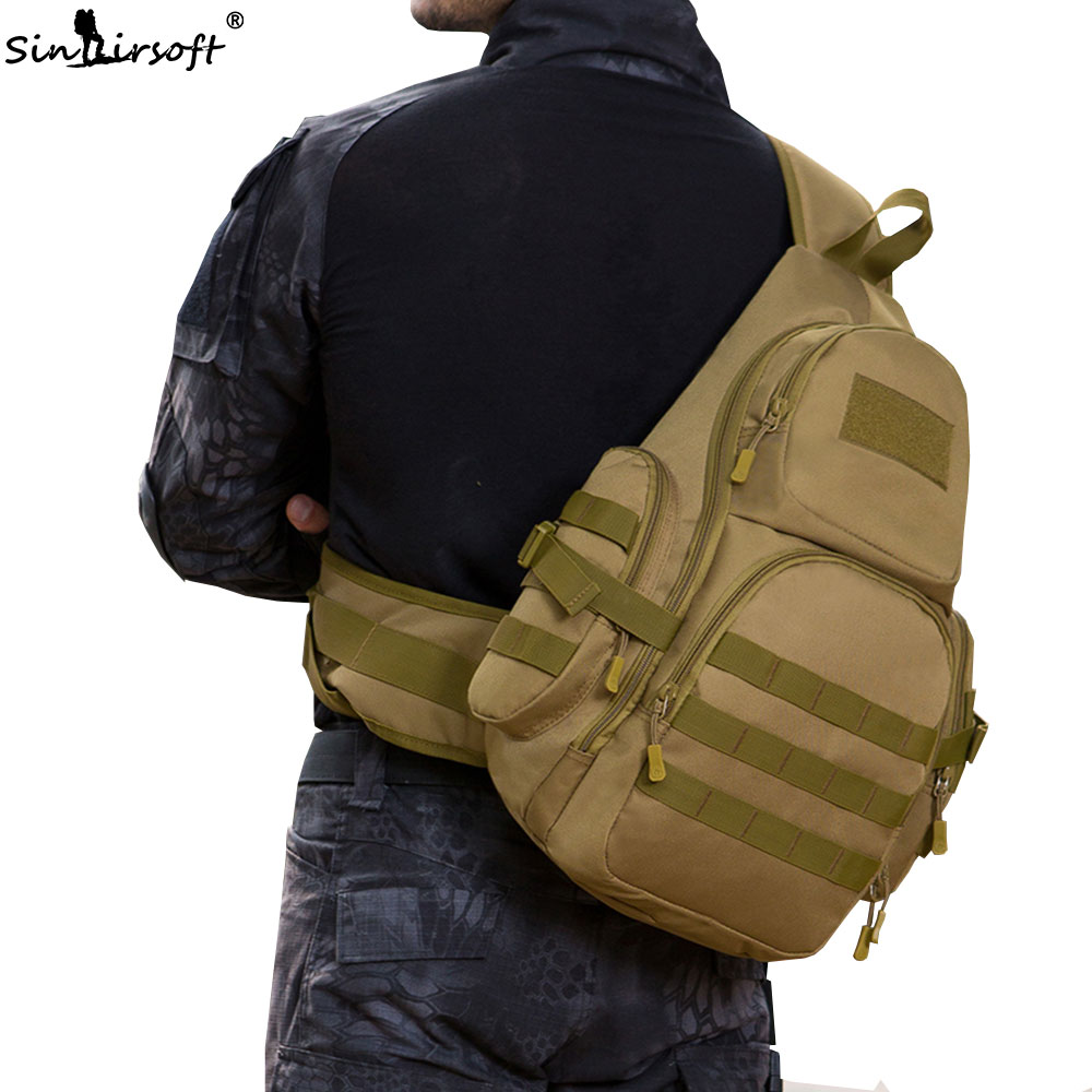 New SINAIRSOFT 14 inches Laptop Molle Military Backpack Men Nylon Rucksack Army Sport Bags Waterproof Travel Outdoor Bags