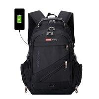 BAIJIAWEI Brand Design Men's Travel Bag Man Swiss Backpack Polyester Bags Waterproof Anti Theft Backpack Laptop Backpacks Men