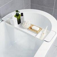 A1 Bathroom drain bathtub tray retractable plastic racks sink tableware shelf dish rack bath storage rack wx9271049