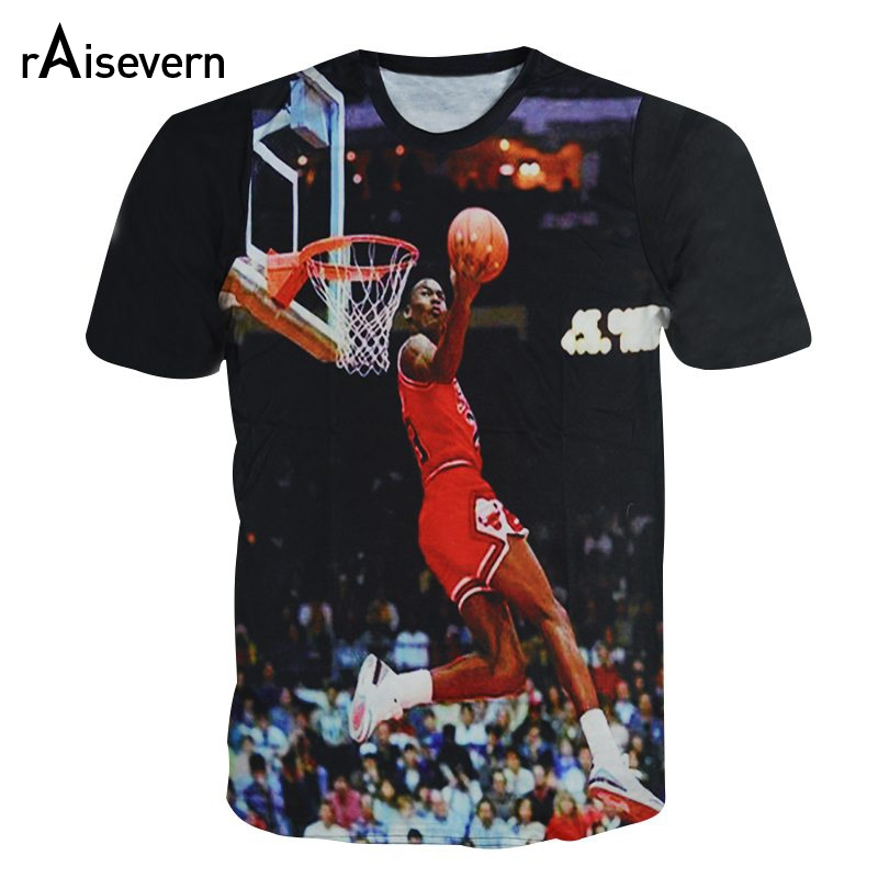 Raisevern New 3D T Shirt Jordan The Last Shot Men Women Short Sleeve Tee Top Crewneck T-shirt Summer Style Casual Tops