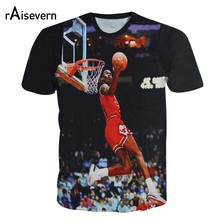 dbeb8e390964 Raisevern New 3D T Shirt Jordan The Last Shot Men Women Short Sleeve Tee Top  Crewneck