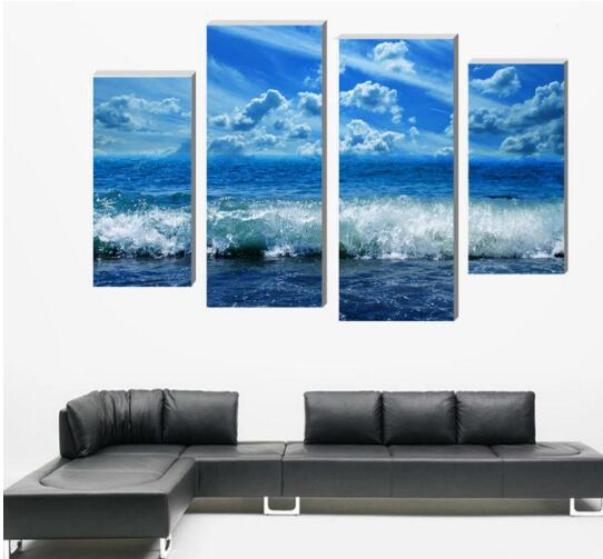 4 pieces paintings sky clouds Wall Art Picture Modern Home Decoration gifts multi  panel canvas wall