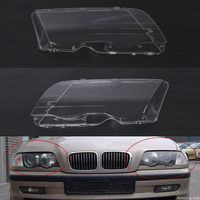 2pcs Left Right Headlight Lense Clear Lens Headlamp Cover For BMW E46 3 Series 1998 1991