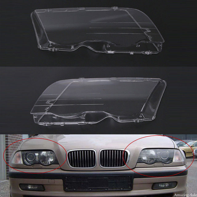 2pcs Left&Right Headlight Lens Clear Lens Headlamp Cover For BMW E46 3 Series 1998 1999 2000 2001 320i/ 325i/ 325xi/ 330i/330