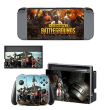 Nintend Switch Vinyl Skins Sticker For Nintendo Console and Controller Skin Set - Game PUBG