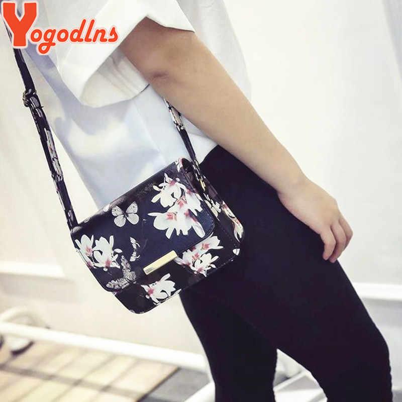 Yogodlns luxe femmes sacs Design petit cartable femmes sac fleur papillon imprimé sac à bandoulière en cuir synthétique polyuréthane rétro sac à bandoulière