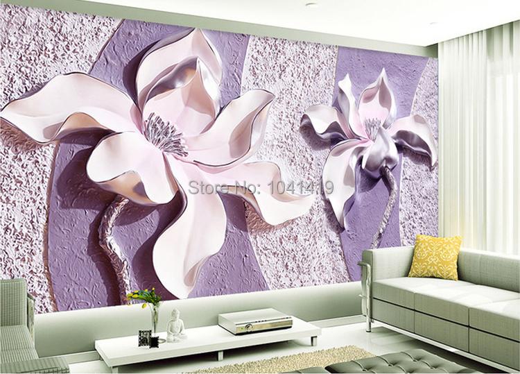 Niestandardowe Zdjęcia Tapety Stereoskopowe 3D Kwiaty Salon Sofa Tło Tapeta Nowoczesna Home Decor Pokoju Krajobraz Malowidła Ścienne 8