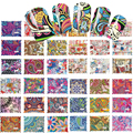 SWEET TREND 44Designs Colorful Nail Art Water Transfer Stickers Nail Tips Decals Beauty Full Cover Wraps Manicure BLE2535-2578