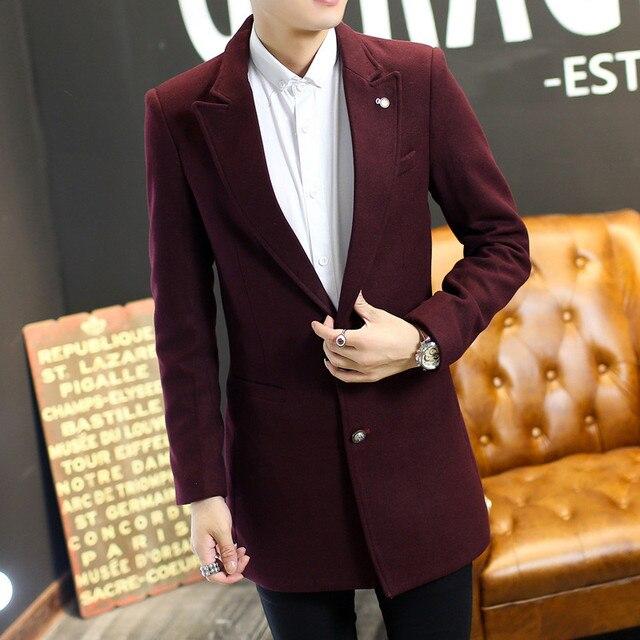 2016 новое прибытие Зима мужская куртка пальто мужская тонкий пальто повседневная тепловые мужчины траншеи верхняя одежда ожирением плюс размер М-4XL 5XL
