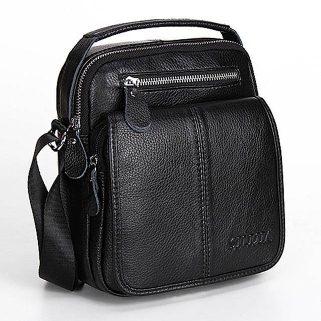 Homens de couro genuíno saco do mensageiro saco de ombro maré de moda marca homens design clássico de alta qualidade saco do telefone pacote pequeno quadrado