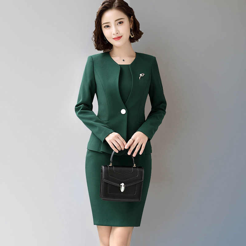 dca666dcdf4 ... 2018 Women's female Formal Full dress jacket suits formal dresses for office  lady Jacket Dress ladies ...