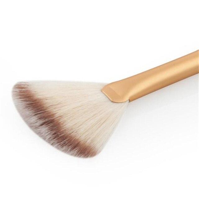 OutTop meilleur vendeur 1 Pc Ventilateur Brosse Portable Mince Professionnel Maquillage Pinceau fond de Teint Poudre Make Up Outil Fan Forme Cosmétiques #30