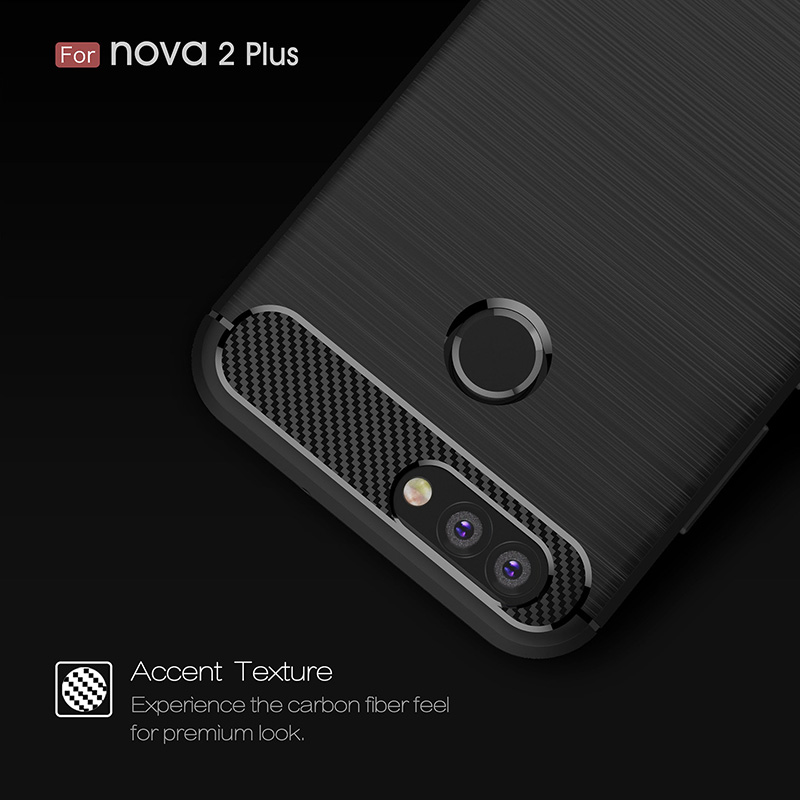 Effelon Phone Case For Huawei Nova2 Plus Brushed Drawing Silicone Cover Case For Huawei Nova 2 Plus Mobile Phone Shell Coque<