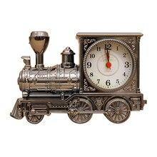 Vintage Retro Style Train Model Desk Alarm Clock