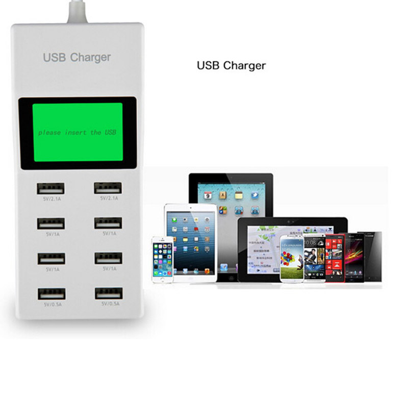 INGMAYA 8 Port USB Charger Daya 5V8A LCD Display Untuk iPhone 5 5 S 6 - Aksesori dan suku cadang ponsel - Foto 4